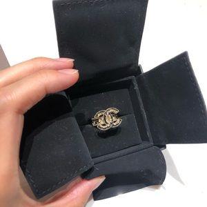 Authentic Chanel CC Enamel Ring
